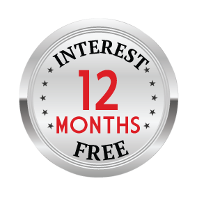 Up to 12 Months Interest Free